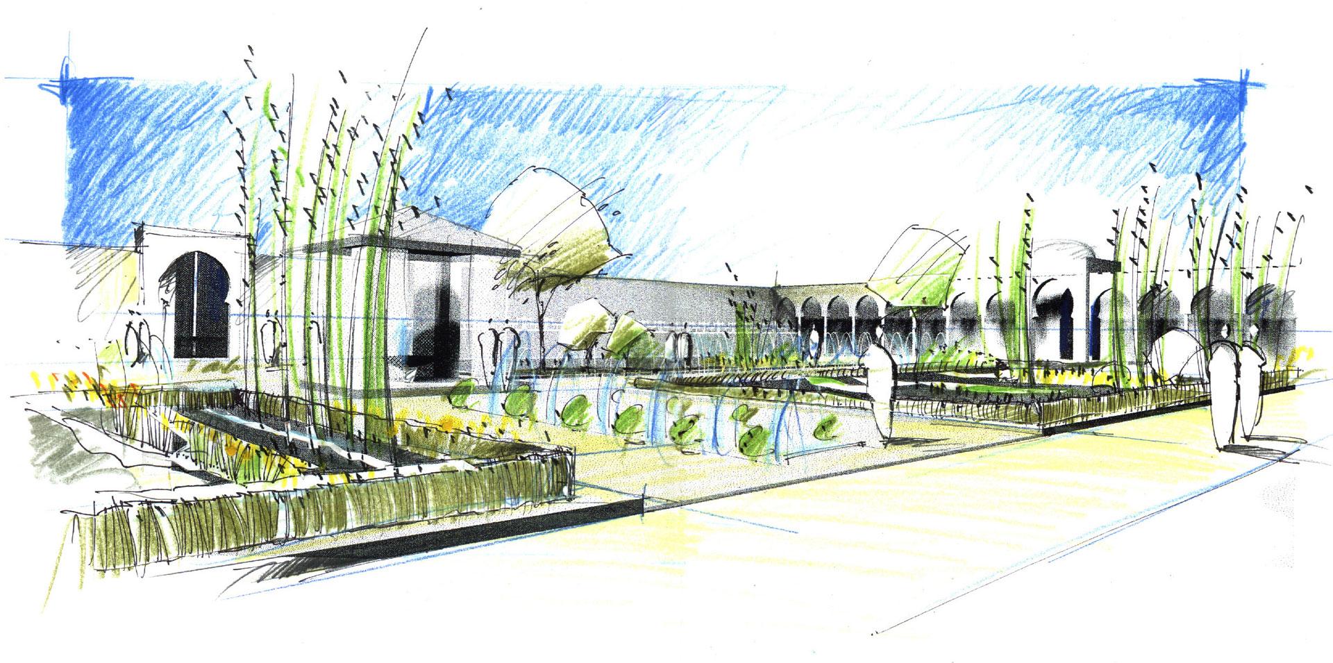 Stunning Landschaftsarchitektur Garten Skizze Images - Ridgewayng ...