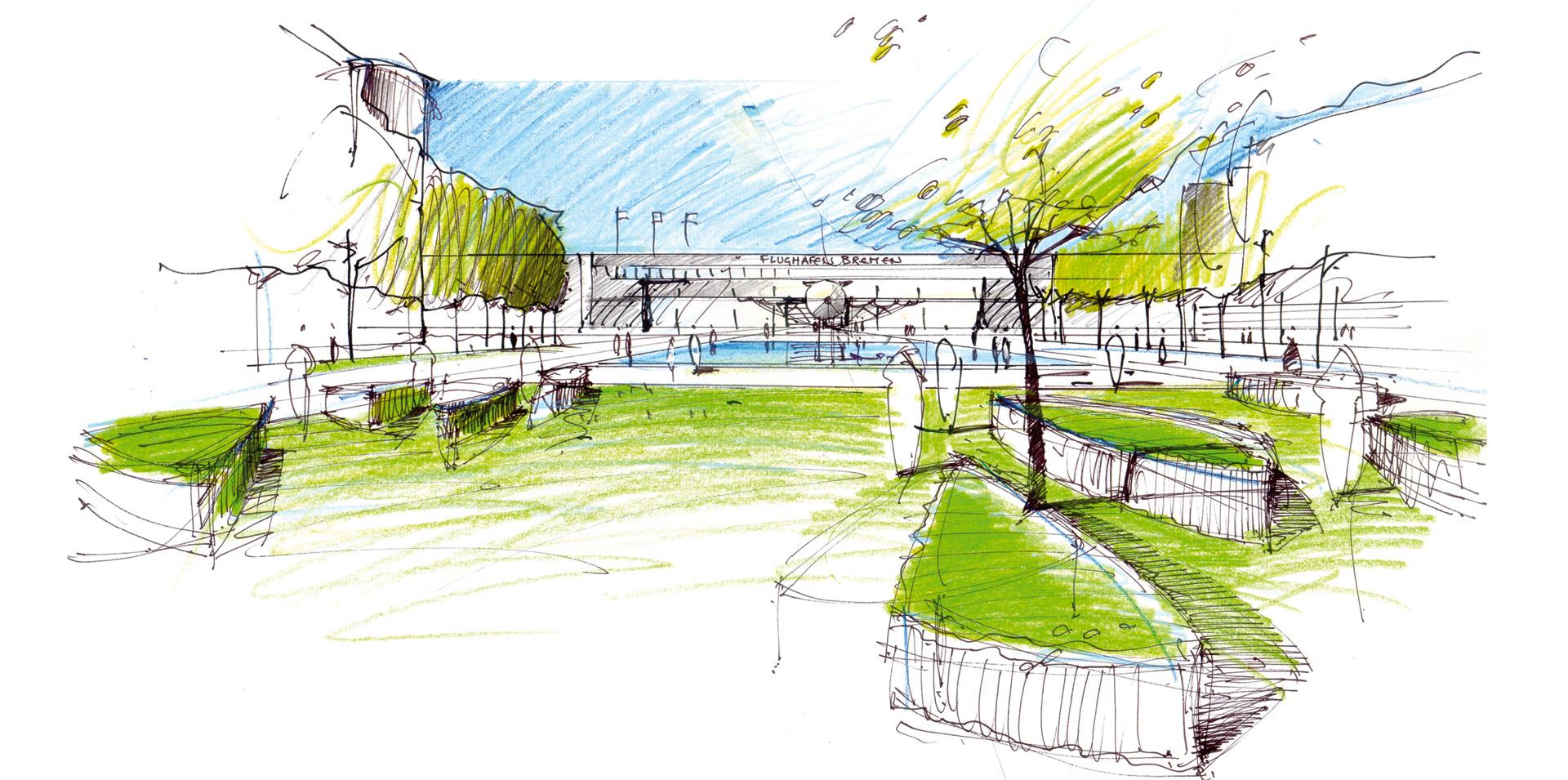 Landschaftsarchitekt| Kamel Louafi |Skizzen und Zeichnungen zu ...