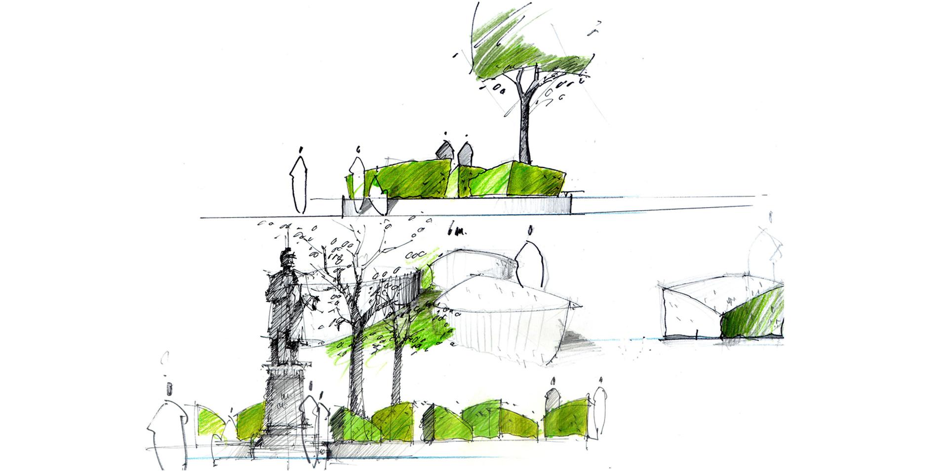 beautiful landschaftsarchitektur garten skizze gallery house design ideas. Black Bedroom Furniture Sets. Home Design Ideas